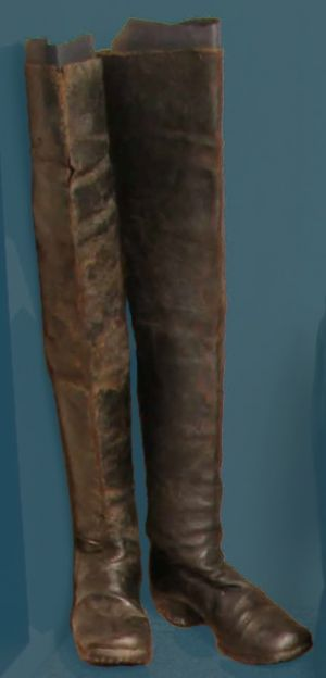 Thigh-high boots, second half of the 19th century.