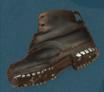 Children's laced boots, pegged construction with hobnailed soles. Second quarter of the 20th century.