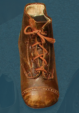Laced children's boots. First third of the 20th century.