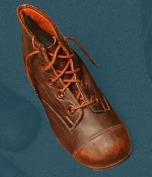 Laced children's boots. Second quarter of the 20th century.
