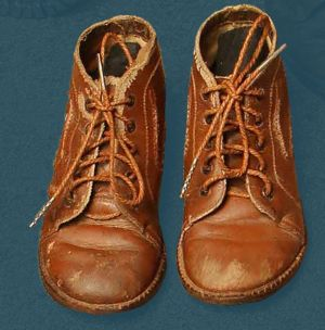 Children's laced boots. Mid 20th century.