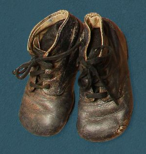 Child's laced boot. Mid 20th century.