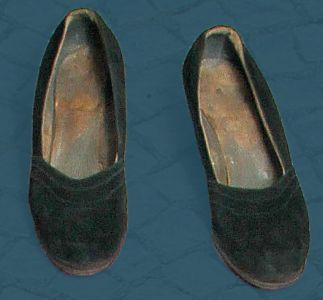 Women's suede shoes. Interwar period.