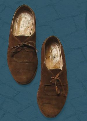 Women's laced shoes, made in 1965.