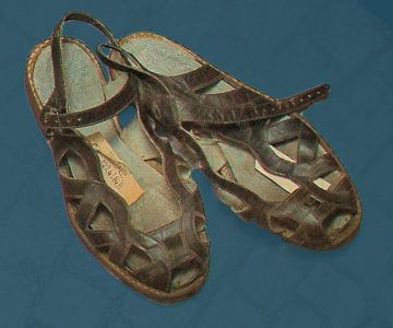 Women's sandals. Mid 20th century.