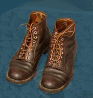 Laced boots. From after World War One.