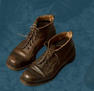 Hardwearing men's boots with hobnailed soles. Second quarter of the 20th century.