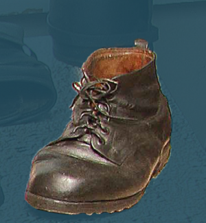 Hardwearing boots with laces. First third of the 20th century.