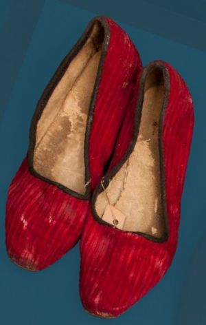 Slippers. Mid 20th century.