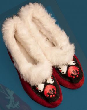 Winter slippers. Last quarter of the 20th century.