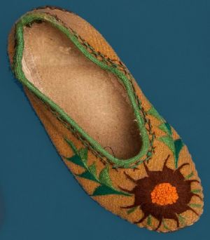 Women's slippers. Third quarter of the 20th century.