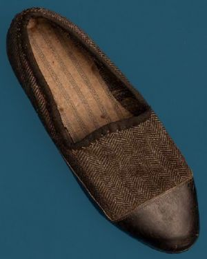 Slipper or women's shoe. Second quarter of the 20th century.