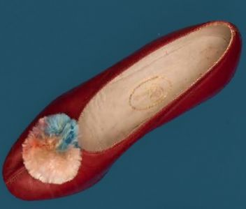 Leather women's slipper with tassel. Third quarter of the 20th century.