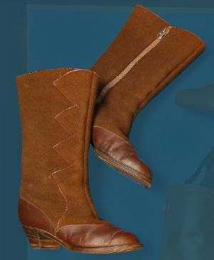 Women's boots for festive wear. First third of the 20th century.