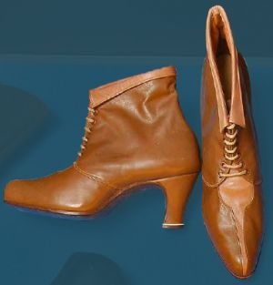 Laced boots for special occasions. Third quarter of the 20th century.