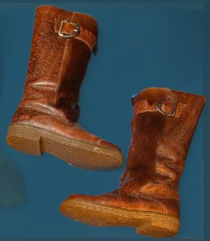 Men's boot with zip. Last quarter of the 20th century.